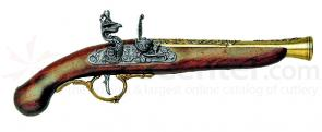 German Early 1700's Flintlock Replica Pistol