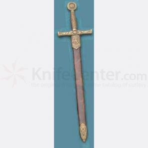 Excalibur Letter Opener With Gold Finish