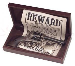 Old West Wooden Presentation Box, 12.25 inch x 5 inch x 2 inch