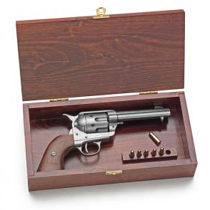 Western Revolver Wood Presentation Box