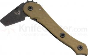 Combat Ready E.D.A. Every Day Axe Folding Frame Lock Tomahawk 2-1/2 inch Blackstone AUS-8 Blade, Coyote G10 Handle