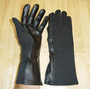 Worldwide Gloves Flight Gloves with NOMEX - Black, size Small