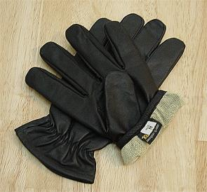 Worldwide Protective Products LE-KVL Kevlar Lined Law Enforcement Patrol Gloves, Large, Black