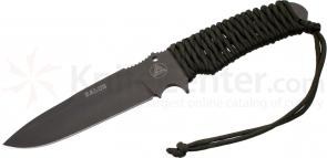 Combative Edge Salus Tactical Fixed 5.875 inch N690Co Black Plain Blade, OD Paracord Handles, Kydex Sheath