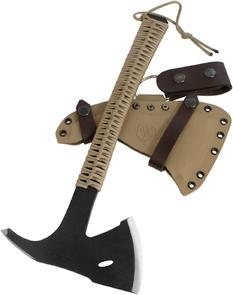 Condor Tool & Knife CTK1810-3.6 Sentinel Axe 3.625 inch Carbon Steel Head, Desert Tan Paracord Wrapped Handle, Kydex Sheath