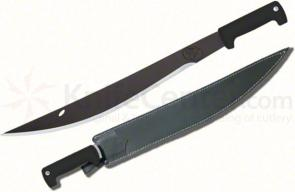 Condor Tool & Knife Hog Sticker Machete 18 inch Black Stainless Steel Blade, Polypropylene Handles, Leather Sheath