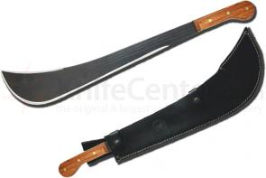 Condor Tool & Knife CTK2090B Viking Machete 20 inch Black Stainless Steel Blade, Hardwood Handles, Leather Sheath