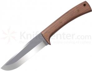Condor Tool & Knife CTK229-5HC Stratos Knife 5 inch Carbon Steel Blade, Hardwood Handles, Leather Sheath