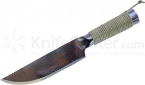 Condor Tool & Knife CTK233-10HC Matagi Knife 8-1/2 inch Carbon Steel Blade, Paracord Handle, Leather Sheath