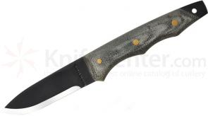 Condor Tool & Knife CTK242-3HC-BNS LEK (Law Enforcement Knife) Tactical 3-1/8 inch Carbon Steel Black Blade, Micarta Handles, Ballistic Nylon Sheath