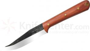 Condor Tool & Knife CTK249-4HC Tavian Knife 4-1/2 inch Carbon Steel Blade, Hardwood Handle, Leather Sheath
