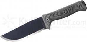 Condor Tool & Knife CTK257-5.5HC Crotalus Knife 5-1/2 inch Carbon Steel Blade, Micarta Handles, Kydex Sheath