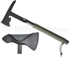 Condor Tool & Knife CTK4012TRT TRT Combat (Tactical Rescue Tomahawk) 7 inch Carbon Steel Head, Paracord Wrapped Handle, Leather Sheath