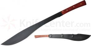 Condor Tool & Knife CTK414-18HC Thai Enep Machete 18 inch Carbon Steel Black Blade, Hardwood Handles, Leather Sheath