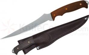 Condor Tool & Knife CTK7031-6.5 Tiburoncito Hunting Knife 6-1/2 inch Satin Stainless Steel Blade, Hardwood Handle, Leather Sheath