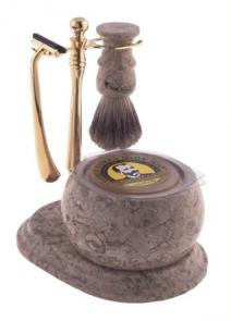 Shaving Set 5 Piece Hand Crafted Stone Shave Set