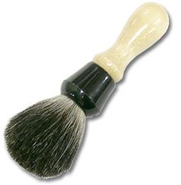 Colonel Conk Wood Handle Shaving Brush Pure Badger Total Length 5-1/2 inch