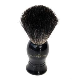 Colonel Conk Shaving Brush Standard Pure Badger with Black Handle