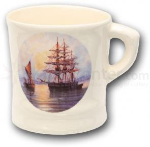 Colonel Conk Shaving Mug with Ship