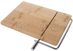 Core Bamboo 10 inch Classic Cheese Board and Slicer, 100% Bamboo