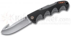 Columbia River 2043 Kommer Free Range Hunter Folder 3.75 inch Drop Point Blade with Guthook, Nylon Sheath