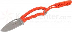 Columbia River 2381 Ritter RSK Mk6 Neck Knife 2.95 inch Blade, Orange Paracord Wrapped Handle
