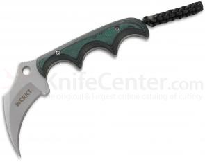 Columbia River 2389 Folts Keramin Neck Knife 2.31 inch Blade, Polished Resin Infused Fiber Handles