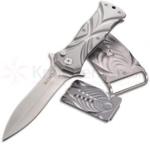 Columbia River 5280SET Tighe Dye Knife, Belt Buckle and Money Clip Box Set