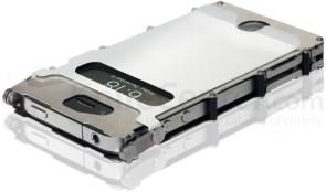 Columbia River iNoxCase 360 Degree Stainless Steel iPhone 4 or iPhone 4S Case, White
