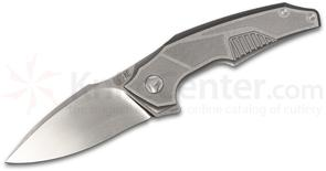 Custom Knife Factory Tashi Bharucha Muscle Flipper 3.9 inch M390 Hand Rubbed Satin Blade, Milled Titanium Handles