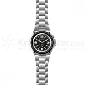 Dakota Watch Company Military Torch w/ Black Dial & Stainless Band