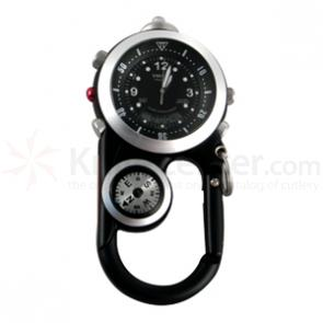 Dakota Watch Company Angler II, Black Ana-Digi EL Dial, Black Case