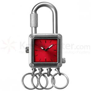 Dakota Watch Company Lock Clip, Red Dial