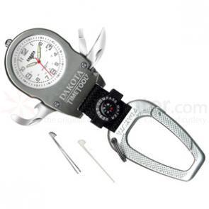 Dakota Watch Company Time Tool 7, White Dial, Carabiner Clip