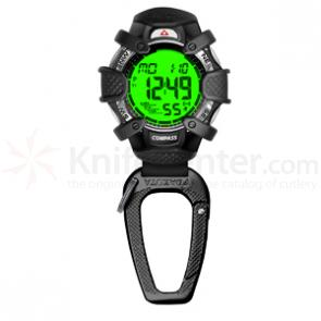 Dakota Watch Company Tough Clip, Digital Dial, Black Case