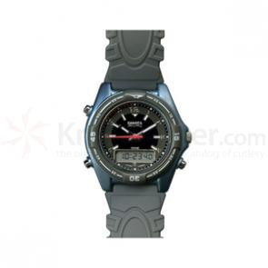 Dakota Watch Company Sting Ray, Champ. Ana-Digi Dial, Silver Case, Nylon & PVC