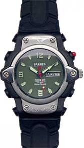Dakota Watch Company X-Shock Moss Green EL Dial With Sandblasted Bezel