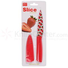 Decor Craft Slice Paring Knife 3-3/4 inch Blade (Tomato)