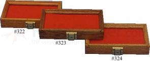 Cherry Wood Display Case 5 inch x 10 inch x 1.875 inch