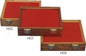 Oak Wood Display Case 9.5 inch x 12 inch x 2.875 inch
