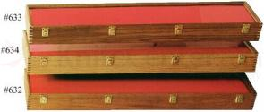 Walnut Wood Sword Display Case 9 inch x 42 inch x 4 inch