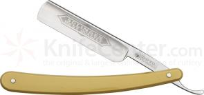 DOVO Straight Razor 5/8 inch Half Hollow Ground Blade, Blond Celluloid Handle (101586)