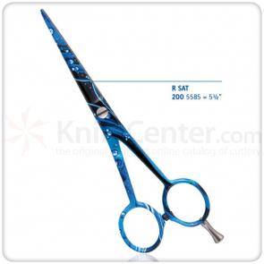 DOVO Hair Scissors 5-1/2 inch, Aqua Design