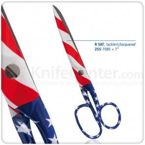 DOVO Lacquered Household Scissors 7 inch, American Flag Design