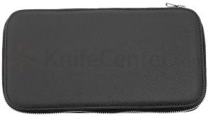 DOVO 271 010 Black Leather Padded Straight Razor Case