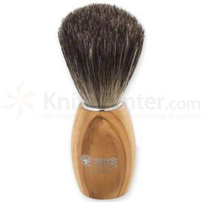 DOVO 918 106 Badger Hair Shave Brush, Olive Wood Handle