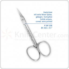 DOVO Cuticle Scissors 3-1/4 inch Curved, Extra Fine Tip