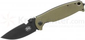 DPx Gear HEST 2.0 Right Handed Folder 3.25 inch D2 Black Plain Blade, Titanium and OD G10 Handles