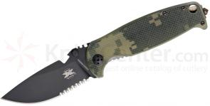DPx Gear HEST 2.0 Limited Edition Folder 3.25 inch D2 Black Combo Blade, Titanium and Digital Camo G10 Handles