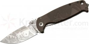 DPx Gear HEST/F Limited Edition Folder Mr. DP Elmax 3.1 inch Plain Blade, Earth Brown G10 and Titanium Handles